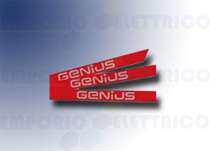 genius stickers kit with genius brand for simple rod 6100201