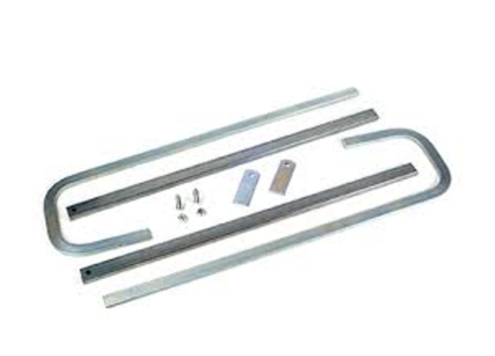 faac pair of curved telescopic arms (x 593-595 not to weld) 390429