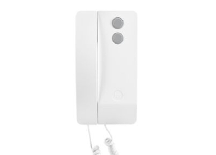 came bpt white audio receiver with handset agata c 60240050